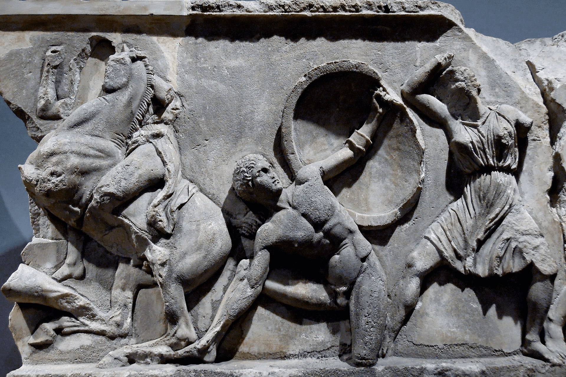 Mausoleum of Halicarnassus - Halicarnassus Wall Relief