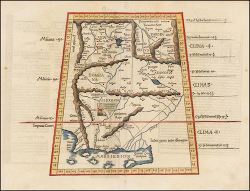 Alexandria Ariana - Tabula Asiae IX: Lorenz Fries (1535)
