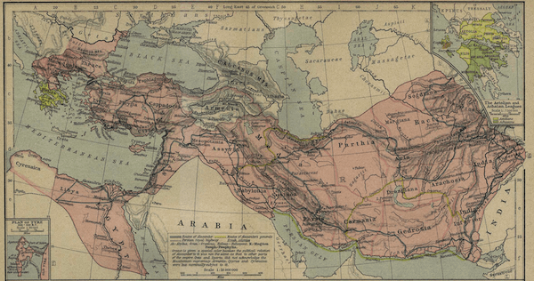 Wars of the Diadochi - Alexanders Empire Map (336-323 BC)
