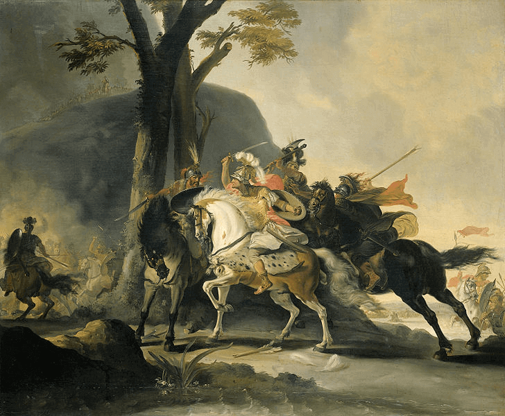 Battle of the Granicus - Alexander in Battle at the Granicus (1737)