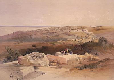 Alexander the Great - David Roberts: Gaza (1839)