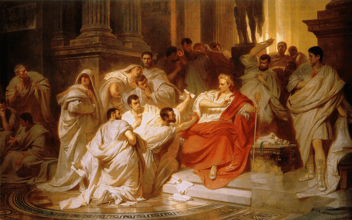 Library of Alexandria - The Murder of Julius Caesar (Karl von Piloty 1865)