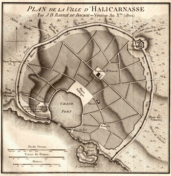 Siege of Halicarnassus - Halicarnassus Map (1802)