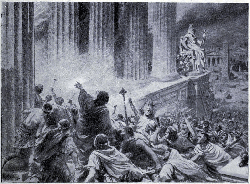 Library of Alexandria - Burning of the Library of Alexandria