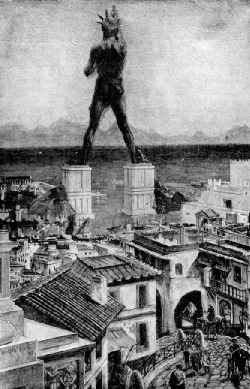 Ancient History - Colossus of Rhodes 1911
