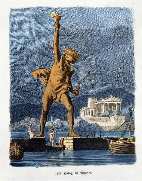 Seven Wonders of the Ancient World - Colossus of Rhodes (Ferdinand Knab 1886) Color