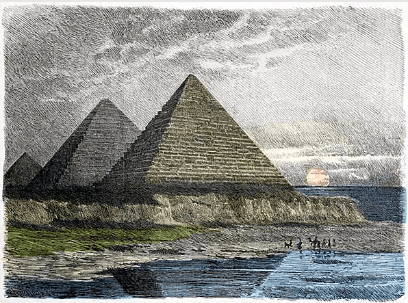 Seven Wonders of the World - Great Pyramid of Giza (Ferdinand Knab 1886)