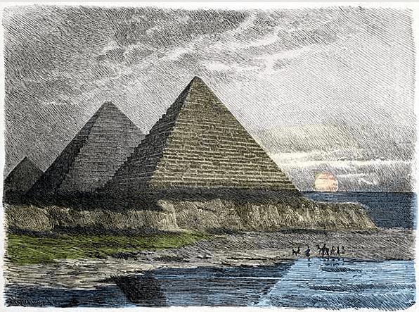 Seven Wonders of the World - Great Pyramid of Giza (Ferdinand Knab 1886)