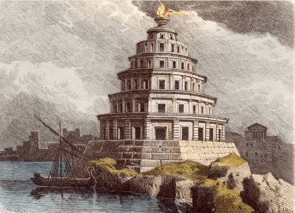 Seven Wonders of the World - Pharos Lighthouse (Ferdinand Knab 1886)