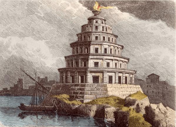 Seven Wonders of the World - Pharos Lighthouse (Ferdinand Knab 1886)