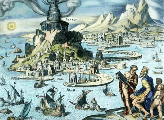 Pharos Lighthouse - Pharos Lighthouse (Maerten van Heemskerck 1572)