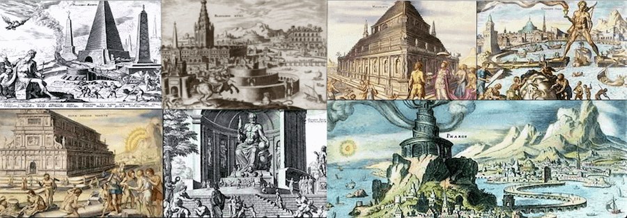 Structures - Seven Wonders of the Ancient World (Maerten van Heemskerck 1572)
