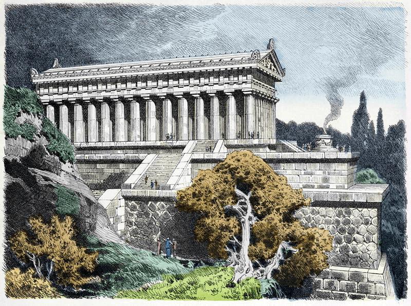Seven Wonders of the World - Temple of Artemis at Ephesus (Ferdinand Knab 1886) Color