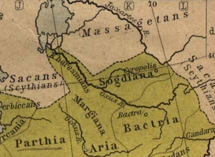 Alexander the Great - Siege of Sogdian Rock: Historical Atlas (1923)